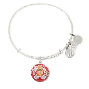 Alex and Ani Gingerbread Man Holiday Bracelet New